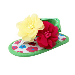 Anti Flower NZ - Summer Baby Shoes Girls Newborn Toddler Baby Girls Flower Sandals Soft Sole Anti-slip Shoes Kids Girl Flower Sandal M8Y17
