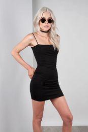 $enCountryForm.capitalKeyWord Australia - Summer Women Sexy Bodycon Dress Female Spaghetti Strip Solid Dresses Fashion Ladies Sleeveless Holidays Dresses