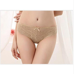 Sexy black women lace online shopping - Designer Women Panties Low WaistLace Floral Sexy Pure Color Comfortable Underwears