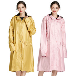 $enCountryForm.capitalKeyWord NZ - Stylish Women's Long Raincoat Waterproof Rain Poncho Portable Thick Raincoats Women for Travel Cycle Outdoor Camping Hiking