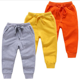 blue trousers for girls 2019 - Kids autumn Spring Clothes Girls Pants Children Trousers for baby boys harem pants solid colors black grey blue red disc