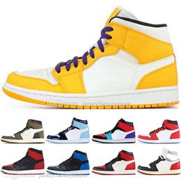 Genuine leather stockinGs online shopping - In Stock High OG Travis Scotts Cactus Jack UNC Spiderman Mens Basketball shoes s Top Banned Bred Toe Chicago Men Sport Designer Sneaker