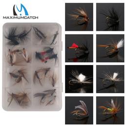 $enCountryForm.capitalKeyWord Australia - fly Maximumcatch 12 18 24 60 Pieces Mixed Dry Pack set Feather Bait Hook Flies Fish Hook Lures Fishing Flies