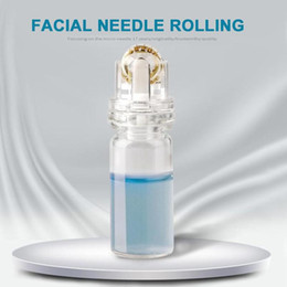 $enCountryForm.capitalKeyWord UK - Alloy Gold Water-soluble Microneedles Facial Skin Care Needle Roller Glass Bottle Empty Containers Refillable Bottles