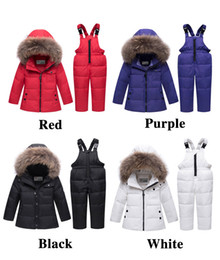 277c77a3 Kids Down Jacket Boy Girl Two Suits Down Jacket Raccoon Fur Collar Winter  Clothing For Babies and Infants Pan Shao Xing