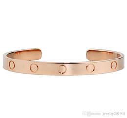 Bracelet Famous Brands NZ - Famous Brand Open Cuff Bracelet Cart for Men Women High Quality 316L Stainless Party Lover's Bracelet Jewelry