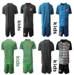 5d62dcc5fe7 Goalkeeper Columbia kids KIT Soccer Jersey World Cup Columbia Goalie jerseys  s 10 JAMES Football Shirts 9 FALCAO 11 CUADRADO Short Sleeve