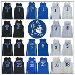 77be20b8f30 NCAA Duke Blue Devils College 1 Zion Williamson 2 Cam Reddish 5 RJ Barrett  35 Marvin Bagley III Tatum Irving Stitched Basketball Jersey 2019