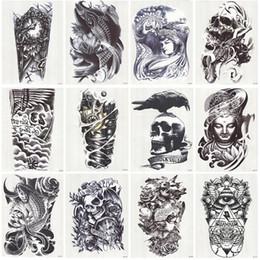 Lip fLash tattoo online shopping - 12 Sheets Waterproof D Arm Sleeve Makeup Temporary Tattoos Sticker Men Women Flash Tatoos Body Arts Swimsuit Makeup Tools D19011202