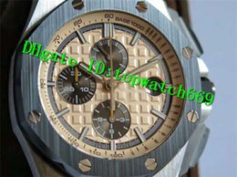 $enCountryForm.capitalKeyWord Australia - JF New Luxury 26400 Watch Swiss 3126 Automatic Chronograph Steel Green Ceramic Bezel Beige Dial Green Camouflage Rubber Strap Mens Watches