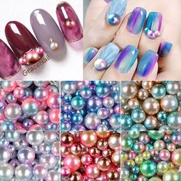 $enCountryForm.capitalKeyWord NZ - 1 Box Magic Gradient Round Wheels Pearl Mixed Size 3mm 4mm 5mm Mermaid Beads 3D Manicure Charm Jewelry Crystal Decoration MZ050