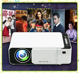 led hdmi NZ - T5 Portable LED Projector 4K 2600 Lumens 1080P HD Video Projector USB HDMI Beamer For Home Cinema Optional Wifi Projectors MQ06