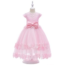 $enCountryForm.capitalKeyWord Australia - Half Open Back Lace Princess Long Dress TuTu Layered Skirt With Big Bow On The Waist