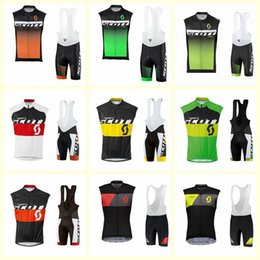 Wholesale 2019 SCOTT team Cycling Sleeveless jersey Vest bib short sets Mountain Bike Clothes High Quality Breathable free delivery U52034