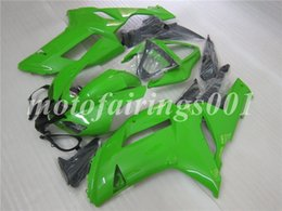 custom zx636 Australia - 4Gifts Free Custom New ABS Bodywork set Fairings kits Fit For KAWASAKI Ninja ZX-6R 07 08 ZX-636 ZX636 ZX6R 2007 2008 ZX 636 Glossy Green