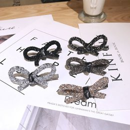 $enCountryForm.capitalKeyWord Australia - Bow Knot Women Barrettes Creative Rhinestone Hair Clips for Girls Simple Style Top Quality Lady Barrettes for Party