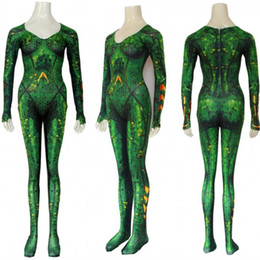 funny costumes women Australia - Justice League Mera Designer Cosplay Theme Costume Funny Halloween And Christmas Theme Costume Women Movie Stars Cosplay Cloth