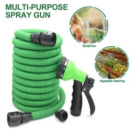 expandable hose spray UK - 25FT-200FT Car Cleaning Washer Spray Water Gun Expandable Flexible Water Hoses Pipe Garden Watering Sprayer Dropshipping