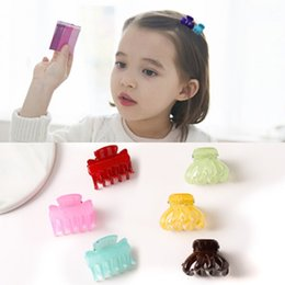 Hair Jaw Clips Wholesale Australia - New Fashion Girls Small Hair Claw Cute Candy Color flower Hair Jaw Clip Children Hairpin Different Size Clip Claw Tool