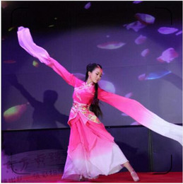 Wholesale belly dancing costumes blue for sale - Group buy woman pink long sleeves chinese classical dance costume blue water sleeves Girl hanfu princess dress ancient fairy cosplay