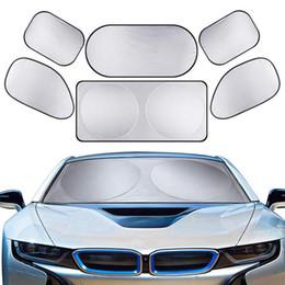 $enCountryForm.capitalKeyWord Australia - Silver Coating 6 pcs set Full Car Auto Windshield Sun Shade Block UV Protection Cover for a great variety of vehicles