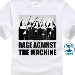 Men T Shirt Gun Australia - Men Fashion Shirt Printed T Shirt Rage Against The Machine Nuns With Guns T Men's Short Sleeve Short Men