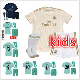 303c3eb88 19 20 Real Madrid kids soccer jersey kits boys child third 2019 2020 HOME  Asensio BALE RAMOS football shirts AWAY ISCO MARIANO BENZEMA EA