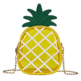 Cute Phone Chains Australia - Women Cute Pineapple Crossbody Shoulder Bags Girls Transparent Pineapple Bag Leisure Chain Messenger Bag Striped Fruit Handbags