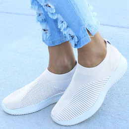 $enCountryForm.capitalKeyWord Australia - Fahion Sneakers Women Summer Sports Shoes Woman Trainers Black Knitted Air Mesh Casual Shoes Tennis Female Zapatillas