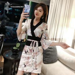 Japanese kimono geisha online shopping - Japanese Silk Robe Kimono Asian Sexy Cosplay Costume Geisha Dress Temptation Female Traditional Japanese Kimono Yukata