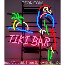 $enCountryForm.capitalKeyWord Australia - 17X14 Inches Tiki Bar Parrot Palm Tree Real Glass Neon Sign Beer Bar Pub Light Handmade Artwork BEST GIFT Fast Shipping