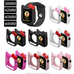 Wholesale Cute Cat Silicone Case for Apple Watch Series Band for iWatch mm mm mm mm Kid Girl