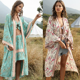 Wholesale cotton summer beach dresses for women for sale – plus size Summer Beach Dress For Woman Beachwear Women Bath Suits New Print Cardigan Cape With Female Cotton Fmzxg Swimming Suit