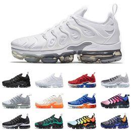 the latest 9b208 7f342 Nike air vapor max vapormax Plus zapatillas deportivas para hombre mujer  zapatillas PURE PLATINUM triple negro blanco EE. UU. Lobo fresco gris para  hombre ...