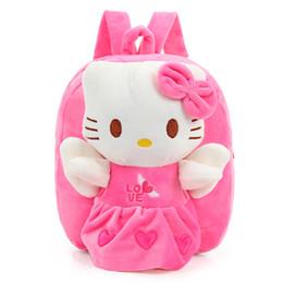 $enCountryForm.capitalKeyWord Australia - Pink Blue Red Cute Plush Toy Toddler Fashion Backpack Kids Bag for Children's Gift Little Girl Hello Kitty Baby Bag