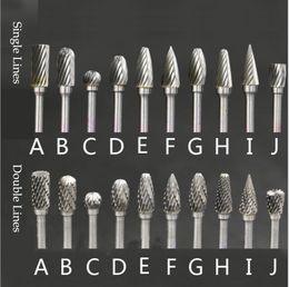 $enCountryForm.capitalKeyWord NZ - 10Pcs Set Rotary Burr Set Carving Tool Tungsten Carbide Steel Solid Twist Drill Bit Grinding Head for Dremel Rotary Tools Woodworking