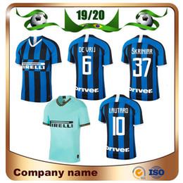 ca05050c9 2019 Milan Soccer Jersey 19 20 home Inter Blue #9 ICARDI Soccer Shirt Away  JOVETIC PERISIC CANDREVA J.MARIO Away football uniforms
