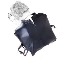$enCountryForm.capitalKeyWord Australia - New Soft Pu Leather Adjustable Bound Bondage Straitjacket Erotic Positioning Fetish Bandage Adult BDSM Product Sex Games Toy 0337