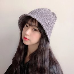 834a847ad04 ROSASSY Fashionable Knitted Fishman Hat Caps for Women Solid Color Winter  Bucket Hats Outdoor Travel Sun Hats Drop Ship