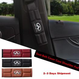 Großhandel Auto Sicherheitsgurt Cover Case Schulterpolster für Infiniti QX80 QX60 MX35 M35 M45 Rot Schwarz Braun Memory Cotton