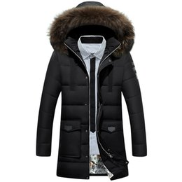 Wholesale long winter parka for men for sale – warmest winter 2018 New Down Parka Men Winter Jacket Men s High Quality Hooded Down Coat Thick Long Coat for Male Fur Collar Plus Size XL