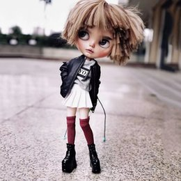 $enCountryForm.capitalKeyWord NZ - 1 Pair Blyth Doll Shoes Cool Black,White Platform Short Boot Shoes Dolls Clothes Accessories for Licca,Azone,OB24,Blyth,1 6 doll