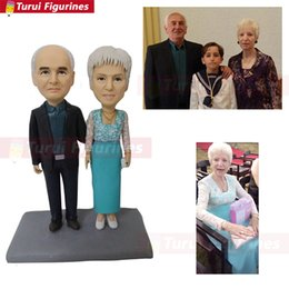 $enCountryForm.capitalKeyWord Australia - grandparent figurine handmade doll mini statue Toys Personalized Custom Polymer Clay Doll