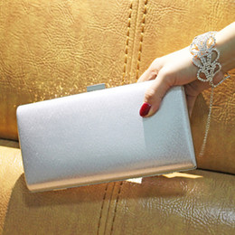 $enCountryForm.capitalKeyWord NZ - Women Storage Clutch Bag Hasp Carrying Gift Wedding Evening Party Purse With Chain Universal Solid Polyester Diamante Shiny