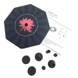 $enCountryForm.capitalKeyWord Australia - Floating Solar Power Fountain Panel Kit Garden Water Pump For Birdbath Pool Watering Wide Irrigation Pumps
