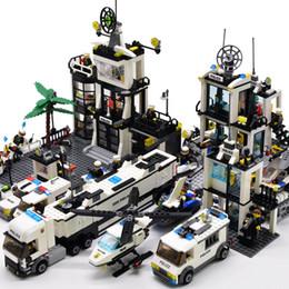 $enCountryForm.capitalKeyWord Australia - Kazi City Police Station Helicopter Boat Truck Technic Car Building Blocks Mini Bricks Figure Diy Toys For Children Boys MX190731