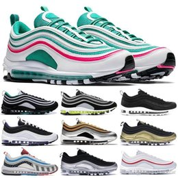 roses black white Australia - Iridescent Layser White Neon Seoul 97OG Running Shoes For Men Guava Ice Barely Rose Michigan Parra Triple Black White Zapatos Trainers