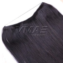 flip human hair extensions 2019 - VMAE Indian Natural Color 100g 120g 140g 160g 12 To 26 Inch Fish Wire Straight Halo Flip In Unprocessed Virgin Human Hai