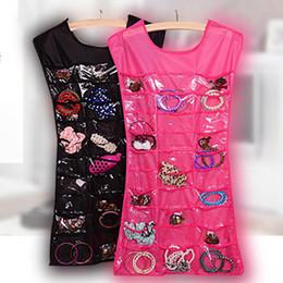 Organizer Hangs Jewelry Storage Australia - Hanging Dress Storage Bag Jewelry Holder Necklace Bracelet Earring Ring Pouch Organizer Bag Jewelry Display