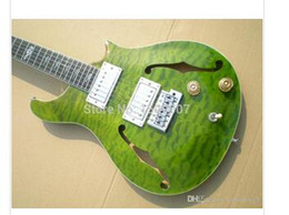 solid f hole Australia - : Electric guitar musical instrument guitar, Green burst top, F hole, High quality